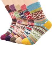 ZANDO Womens Knit Wool Socks Women Winter Vintage Soft Thick Warm Boot Socks Cute Gifts