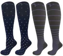 4 Pair Pack Knee-High Youth Graduated Compression Socks Long for Sports, Soccer, Football, Baseball, Basketball, Running, Youth Athletics.Boys & Girls Gift Set; Assorted Designs, Small-Fits Ages 4-7
