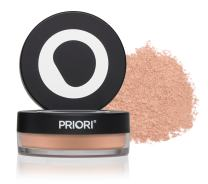 Priori All-Natural Mineral Powder Foundation SPF 25 - Antioxidant Enriched, Broad Spectrum Sunscreen, Flawless Coverage Mineral Makeup - Shade 1 Fairly Porcelain
