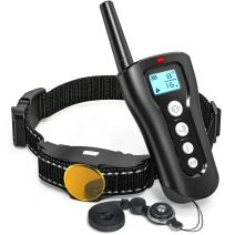 FunniPets Dog Shock Collar with Remote, 2018 Upgraded 1000ft Remote Dog Training Collar Waterproof Rechargeable E Collar with Beep, Vibration and Shock Modes for Small Medium Large Dog