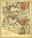 Arizona Territory - (1887) - Panoramic Map (9x12 Art Print, Wall Decor Travel Poster)