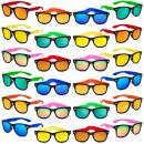 Kids Sunglasses Party Favors, 24Pack Neon Sunglasses with UV400 Protection in Bulk for Kids, Boys and Girls, Great Gift for Birthday Graduation Party Supplies, Beach, Pool Party Favors, Fun Gift, Party Toys, Goody Bag Favors