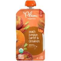Plum Organics Stage 2 Organic Baby Food, Peach, Pumpkin, Carrot & Cinnamon, 3.5 Ounce Pouch (Pack of 6)