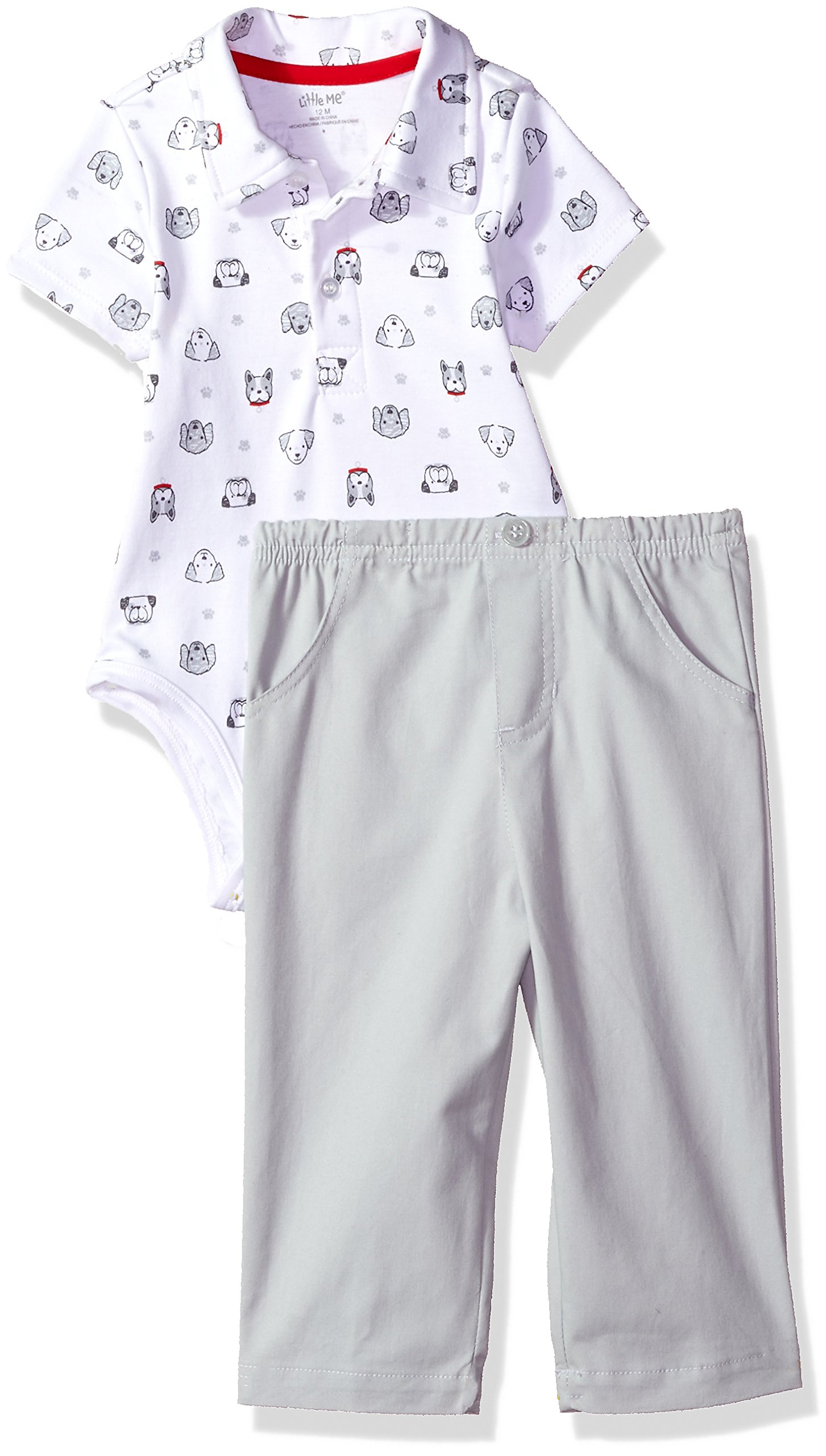 Little Me Baby Boys' Polo Pant Set