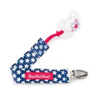 BooginHead Baby Newborn PaciGrip Pacifier Clip, Patriotic USA Stars, Red/Blue