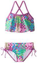 Kanu Surf Girls' Alania Flounce Bikini Beach Sport 2 Piece Swimsuit