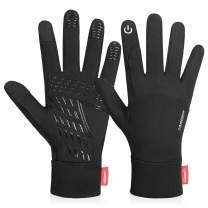 Anqier Running Gloves Touch Screen Gloves Lightweight Warm Liner Winter Gloves Men Women