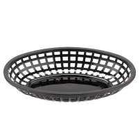 "GET OB-938-BK Oval Serving/Bread Basket, 9.5"" x 6"", Black (Pack of 12)"