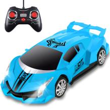 Remote Control Car, RC Car for Kids and Boys with Cool Led Lights,2.4Ghz 1/18 Scale Model Racing Car Toys, Electric Sport Hobby RC Cars Toys Gifts for 3 4 5 6 7 8-12 Year Old Boys Girls Adults (Blue)