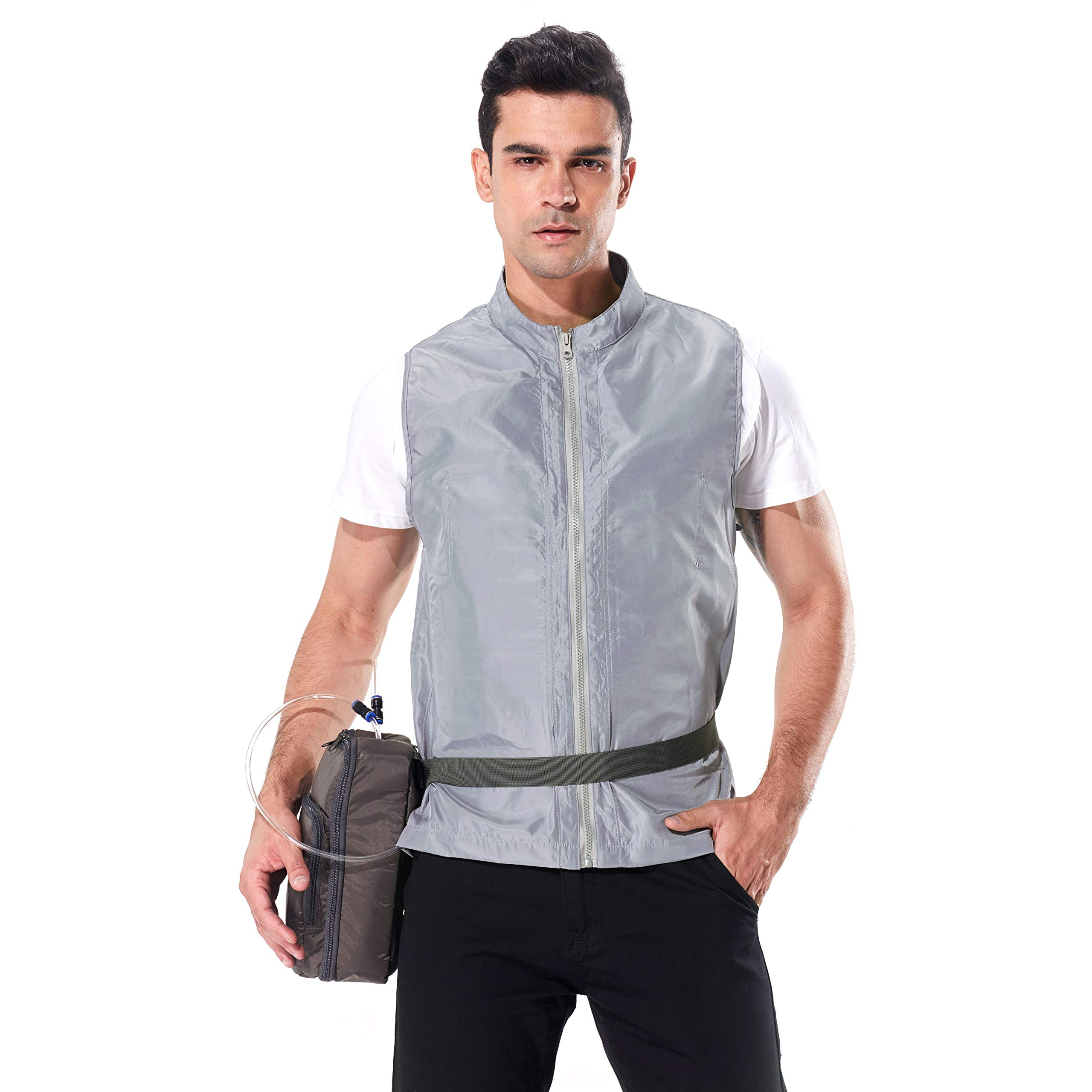 INNERNEED Personal Outerwear Cooling Vest, Ice Water Circulation Cooling System for Summer Outdoor Sports, Works