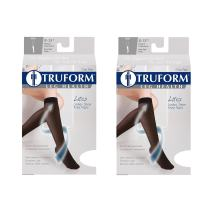 Truform Compression 8-15 mmHg Sheer Knee High Stockings Taupe, Large, 2 Count