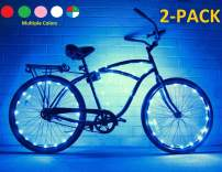 N&M Products Bike Wheel Lights (2 Pack)- Colorful Accessory