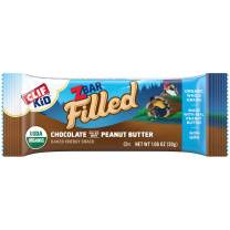 Clif Kid ZBAR Filled - Organic Granola Bars - Chocolate Peanut Butter - (1.06 Ounce Lunch Box Snacks, 12 Count)