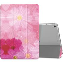 """MoKo Case Fit New iPad Air (3rd Generation) 10.5"""" 2019/iPad Pro 10.5 2017 - Slim Lightweight Smart Shell Stand Cover with Translucent Frosted Back Protector - Coreopsis (Auto Wake/Sleep)"""
