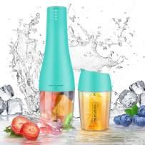 MICHELANGELO Portable Blender, Single Serve Blenders On the Go, Travel Smoothie Blender Small Blender Juice Cup Blender Mini Mixer 350ml - Teal