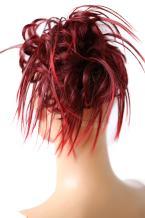 PRETTYSHOP Hairpiece Hair Rubber Scrunchie Scrunchy Updos VOLUMINOUS Wavy Messy Bun red mix 2T113A G9F