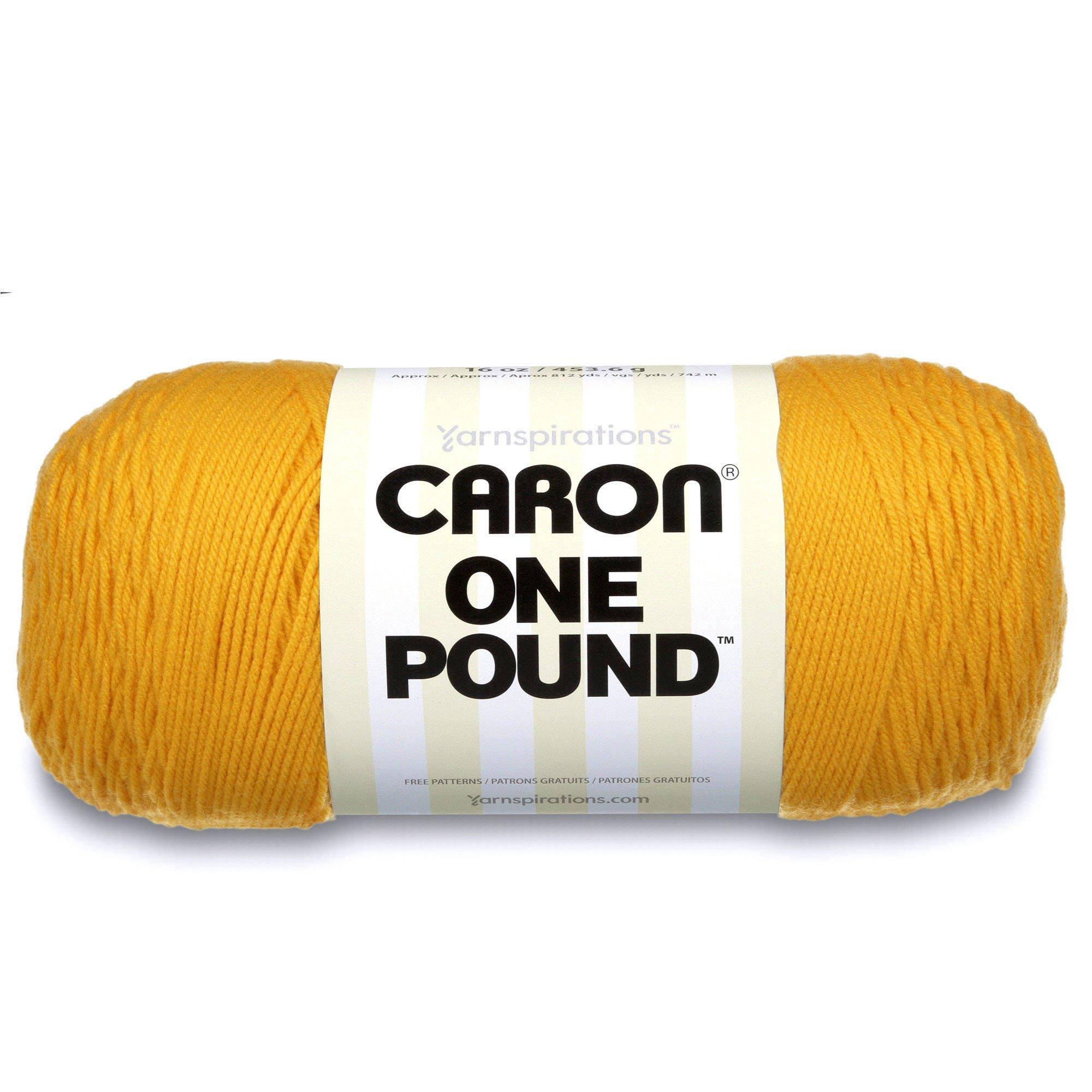 Caron  One Pound Solids Yarn - (4) Medium Gauge 100% Acrylic - 16 oz -  Sunflower- For Crochet, Knitting & Crafting  ( 1 Piece )