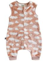 VAENAIT BABY 1-7Y Cozy Warm Fleece Kids Girls Wearable Blanket Slepper Cloud Pink M