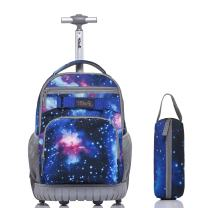 Tilami Rolling Backpack 18 Inch with Pencil Case School for Boys Girls