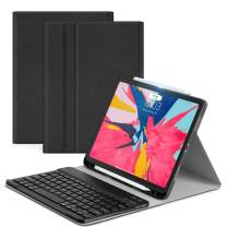 Ayotu iPad Pro 11 Keyboard Case 2018(Old Model)Detachable Wireless Keyboard [Support Apple Pencil Charging] - Ultra Slim Fabric Stand with Auto Sleep/Wake for iPad Pro 11'' 2018(Black Keyboard),Black