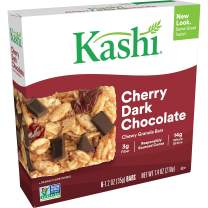 Kashi Chewy Cherry Dark Chocolate Granola Bars - Vegan, Pack of 8-48 Bars