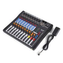 VEVOR 8 Channel Audio Mixer with 48V Phantom Power Mixing Console USB MP3 Audio Sound Mixer for Recording DJ Stage Karaoke Music Appreciation