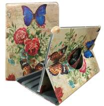 iPad Pro 12.9 inch Case 3rd Generation for ipad Pro 2018 Model A1876/A2014/A1895/A1983 Stand Folio Smart Cover Auto Sleep/Wake Blue Butterfly