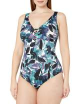 Amazon Brand - Coastal Blue Women's Plus Size Control One Piece Swimsuit