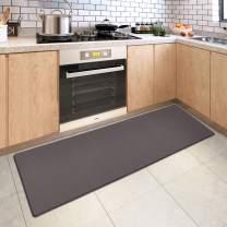DEXI Kitchen Rug Cushioned Anti Fatigue Kitchen Mats, 2/5Inch Waterproof Non Skid Memory Foam Standing Mat, 17x70, Rosy Brown