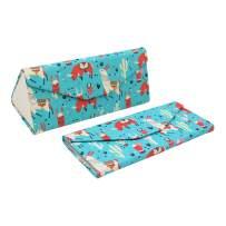 REAL SIC Adorable Animal Glasses Case - Magnetic Folding Hard Case for All Glasses (Llamas)