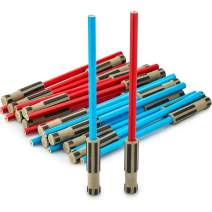 Light Saber Pencils Party Favors, Set for Kids 24 pack of Red and Blue Pencils with 3D Top Gifts Supplies for Star Wars Fan Boys Girls Teen Tween Adult