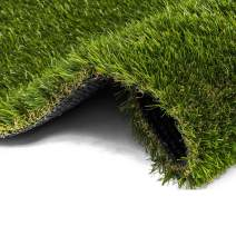 AYOHA 4' x 6' (24 Square ft) Artificial Grass, Realistic Fake Grass Deluxe Synthetic Turf Thick Lawn Pet Turf, Indoor/Outdoor Landscape, Easy to Clean with Drain Holes, Non Toxic, High Density, 35mm
