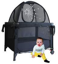 Aussie Cot Net Co - Fits a Pack n Play and Mini Cribs - Travel Tent to Keep Baby from Climbing Out - Portable Ready to use on Vacation - Black Crib Netting Settles Baby to Sleep Better and Longer