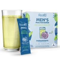 Root'd - Powder Multivitamin For Men - A Men's Vitamin Drink Mix for Liquid With 25 Natural Vitamins & Minerals, Electrolytes, Organic Super Greens + Probiotics   Pomegranate   24 Effervescent Packets
