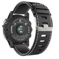 MoKo Band Compatible with Garmin Fenix 3, Premium Leather Replacement Watch Band Fit Garmin Fenix 3/Fenix 3 HR/Fenix 5X/5X Plus/D2 Delta PX/Descent mk1 Smart Watch, Black