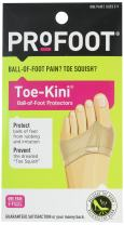 PROFOOT Toe-Kini, Ball of Foot Protectors, (Pack of 2), Pads Metatarsal and Separates Toes for Greater Comfort When Walking, Great for High Heels, Relief from Burning Pain in the Forefoot