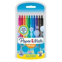 Paper Mate InkJoy Mini Retractable Ballpoint Pens, Medium Point, Assorted, 10 Pack (1951383)