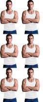 Andrew Scott Men's 6 Pack Big & Tall Man Extra Tall Long Color Tank Top A Shirt