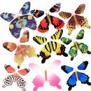 RINHOO 2-100Pcs Magic Fairy Flying in The Book/Card Butterfly Rubber Band Powered Wind Up Butterfly Toy Great Surprise Wedding Birthday Gift (12pcs)