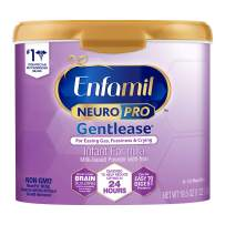 Enfamil NeuroPro Gentlease Baby Formula Gentle Milk Powder Reusable Tub, 20 oz.- MFGM, Omega 3 DHA, Probiotics, Iron & Immune Support (Package May Vary)