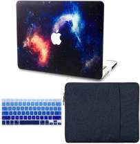 """KECC Laptop Case for MacBook Air 13"""" Retina (2020/2019/2018, Touch ID) w/Keyboard Cover + Sleeve Plastic Hard Shell Case A2179/A1932 3 in 1 Bundle (Nebula)"""