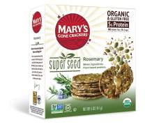 Mary's Gone Crackers Super Seed Crackers, Organic Plant Based Protein, Gluten Free, Rosemary, 5 Ounce (Pack of 1)