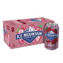 Ice Mountain Sparkling Natural Spring Water Can, Strawberry, 12 Fluid Ounce (Pack of 8)