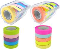 4A Roll Sticky Notes,Full Adhesive,Width x Length 0.4 x 315 Inches,Neon Assorted,Self-Stick Notes,5 Color/Roll,2 Rolls with Dispenser and 2 Refill Rolls,4A PSS 9-5 NANBx2