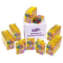 Creative Kids 864 Crayons Classpack Assortment - 36 Boxes of 24 Count Bulk Crayons for School Supplies For Teachers For Classroom, Party Favors, Art Crafts – Non-Toxic Conforms ASTM D4236