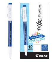 PILOT FriXion Fineliner Erasable Marker Pens, Fine Point, Blue Ink, 12 Count (11467)