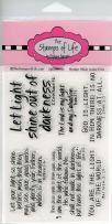 Christian Sentiment Stamps for Card-Making and Scrapbooking Supplies by The Stamps of Life - Light4Jesus Bible