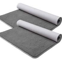 """Color&Geometry Indoor Door Mat 2-Pack 24""""x36""""+24""""x36"""" Floor Mat Entryway Rug Super Absorbent, Non Slip Rubber Backing, Machine Washable, Low-Profile Door Mat Grey"""