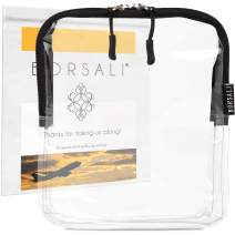 TSA Approved Clear Travel Toiletry Bag -Quart Size forAirport Travel -Carry On &Organize 3-1-1Liquid Toiletries & More