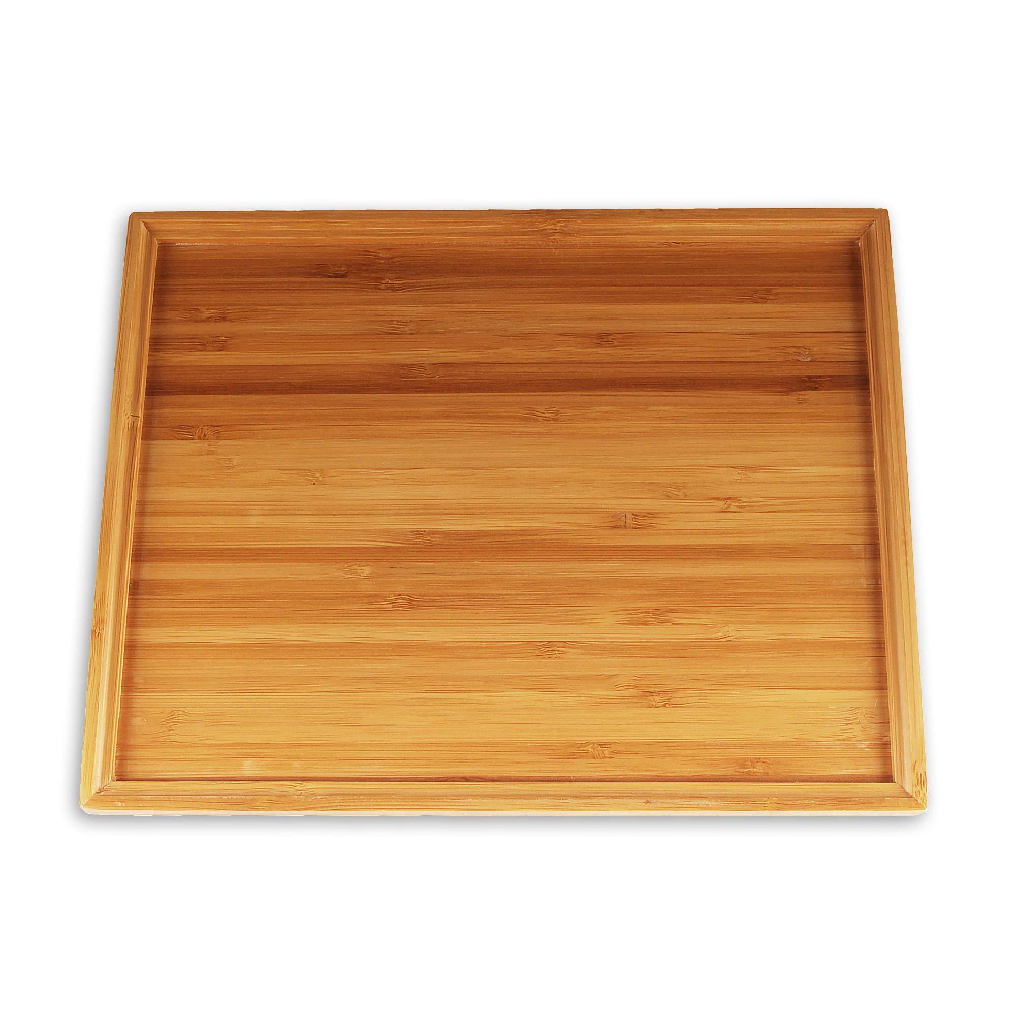 "Organic Bamboo Tea Serving Tray - 11""x8.9""x0.6"" - 3 Pieces"